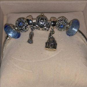Pandora Disney Cinderella Charm Bracelet. NIB